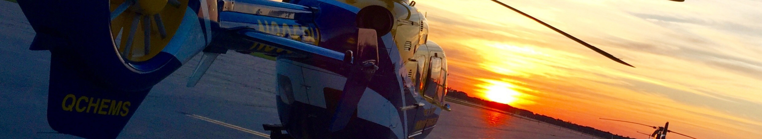medforce aircraft in the sunset